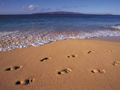 Footprints-on-the-Beach