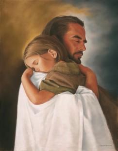 Beautiful-Jesus-Holding-Sleeping-Child-Picture